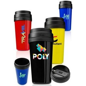 16 Oz. Plastic Insulated Tumbler w/ Tiered Lid