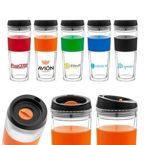 Clear Silicone And Acrylic Tumbler